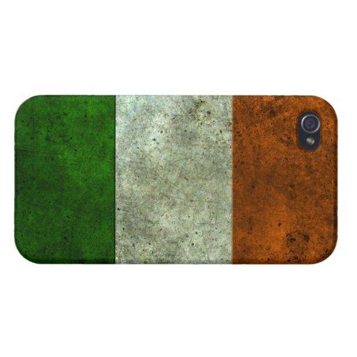 Efecto de acero envejecido bandera irlandesa iPhone 4/4S carcasa
