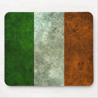 Efecto de acero envejecido bandera irlandesa mousepad