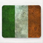 Efecto de acero envejecido bandera irlandesa alfombrilla de ratón