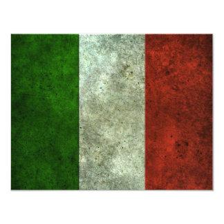 """Efecto de acero envejecido bandera italiana invitación 4.25"""" x 5.5"""""""