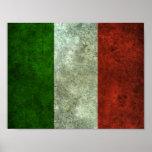 Efecto de acero envejecido bandera italiana impresiones