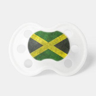 Efecto de acero envejecido bandera jamaicana chupete