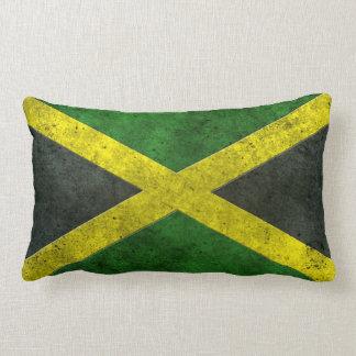 Efecto de acero envejecido bandera jamaicana cojines