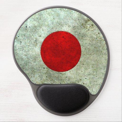 Efecto de acero envejecido bandera japonesa alfombrilla con gel