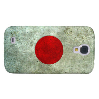 Efecto de acero envejecido bandera japonesa