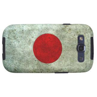 Efecto de acero envejecido bandera japonesa samsung galaxy s3 cárcasas