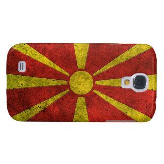 Efecto de acero envejecido bandera macedónica