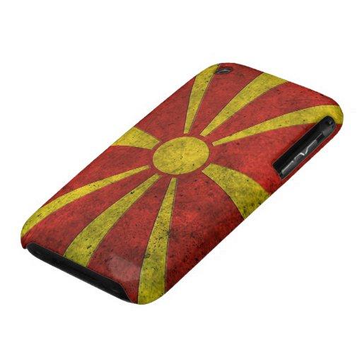 Efecto de acero envejecido bandera macedónica Case-Mate iPhone 3 cobertura