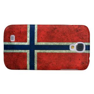 Efecto de acero envejecido bandera noruega