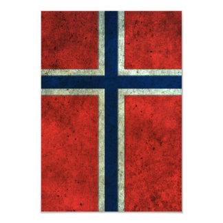 Efecto de acero envejecido bandera noruega anuncio personalizado