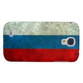 Efecto de acero envejecido bandera rusa