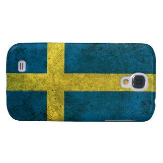 Efecto de acero envejecido bandera sueca