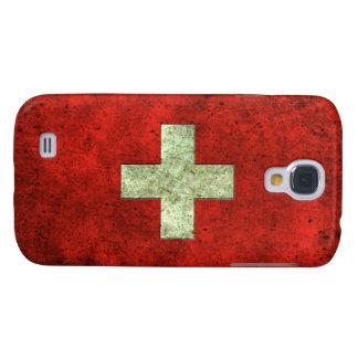Efecto de acero envejecido bandera suiza