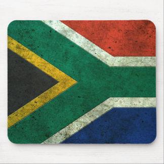 Efecto de acero envejecido bandera surafricana alfombrilla de ratones
