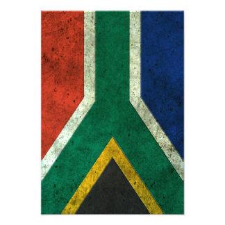 Efecto de acero envejecido bandera surafricana invitaciones personales