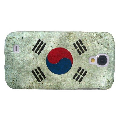 Efecto de acero envejecido bandera surcoreana