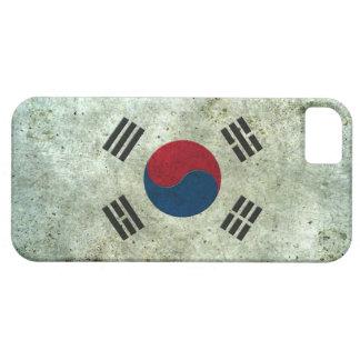 Efecto de acero envejecido bandera surcoreana funda para iPhone 5 barely there