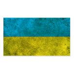 Efecto de acero envejecido bandera ucraniana tarjeta de visita
