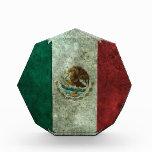 Efecto de acero envejecido de la bandera mexicana