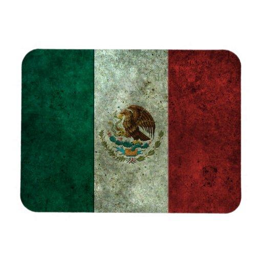 Efecto de acero envejecido de la bandera mexicana imanes