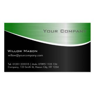 Efecto de acero verde, tarjeta de visita