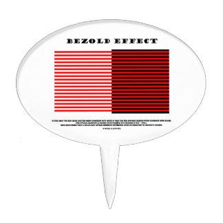 Efecto de Bezold (ilusión óptica) Figura Para Tarta