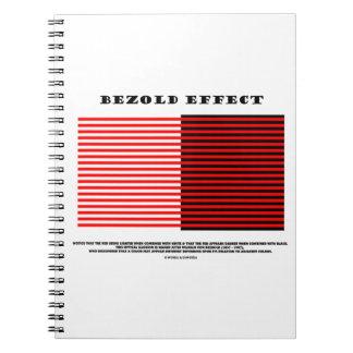 Efecto de Bezold ilusión óptica Libretas Espirales