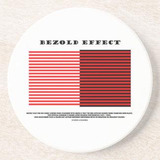 Efecto de Bezold (ilusión óptica) Posavasos Cerveza