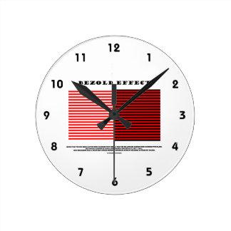 Efecto de Bezold (ilusión óptica) Reloj Redondo Mediano