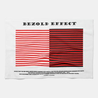 Efecto de Bezold ilusión óptica Toalla De Mano