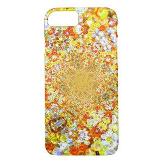 Efecto de cristal ambarino de la joya de las funda iPhone 7