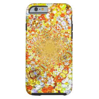 Efecto de cristal ambarino de la joya de las funda resistente iPhone 6