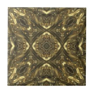 Efecto de cristal del modelo del color oro tejas