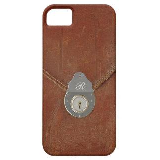 Efecto de cuero bloqueado del caso sobre el caso iPhone 5 funda