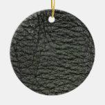 Efecto de cuero negro ornamento para arbol de navidad