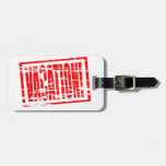 Efecto de goma rojo del sello del pasaporte de las etiquetas para equipaje
