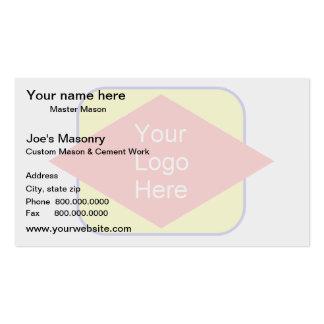 Efecto de la filigrana del fondo del logotipo tarjetas de visita