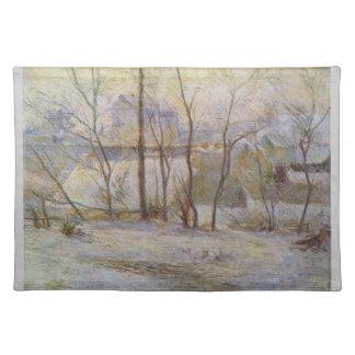 Efecto de la nieve - Paul Gauguin (1879) Manteles Individuales