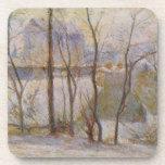 Efecto de la nieve - Paul Gauguin (1879) Posavasos