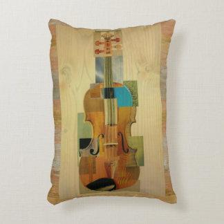 Efecto de madera compuesto del grano del violín cojín decorativo