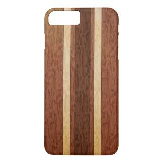 Efecto de madera elegante del grano funda iPhone 7 plus