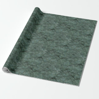 Efecto de piedra texturizado de color verde oscuro papel de regalo