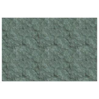 Efecto de piedra texturizado de color verde oscuro papel de seda extragrande