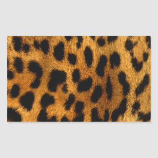 efecto de piel fresco del leopardo etiquetas