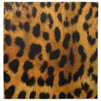 efecto de piel fresco del leopardo servilletas imprimidas