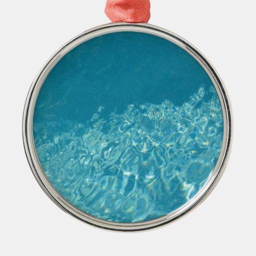 Efecto del agua adorno redondo plateado