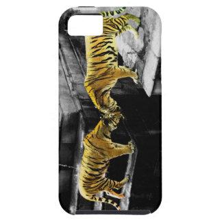 Efecto del color de dos tigres iPhone 5 Case-Mate protector