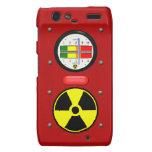 Efecto del contador de Geiger de la radiación Droid RAZR Fundas