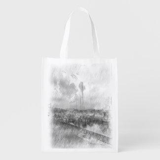 Efecto del dibujo del puerto bolsas reutilizables