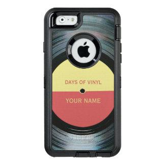 Efecto del expediente de negro vinilo funda OtterBox defender para iPhone 6